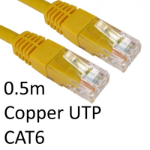 TARGET RJ45 (M) to RJ45 (M) CAT6 0.5m Yellow OEM Moulded Boot Copper UTP Network Cable