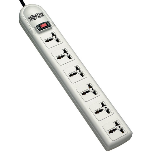 Tripp Lite Protect It! 6-Universal Outlet Surge Protector 230V 1.8M Cord German / French Plug 750 Joules
