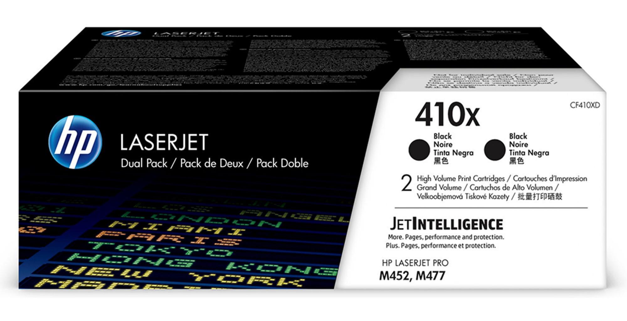 HP 410X Origineel Zwart 2 stuk(s)