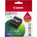 Canon 4540B017 (CLI-526) Ink cartridge multi pack, 450 pages, 9ml, Pack qty 4