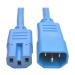 Tripp Lite Heavy-Duty Computer Power Cord, 15A, 14 AWG (IEC-320-C14 to IEC-320-C15), Blue, 0.61 m