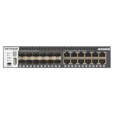 Netgear M4300-12X12F Managed L2/L3 10G Ethernet (100/1000/10000) 1U Black