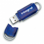 Integral 32GB Courier Drive 32GB USB 2.0 USB Type-A connector Blue USB flash drive