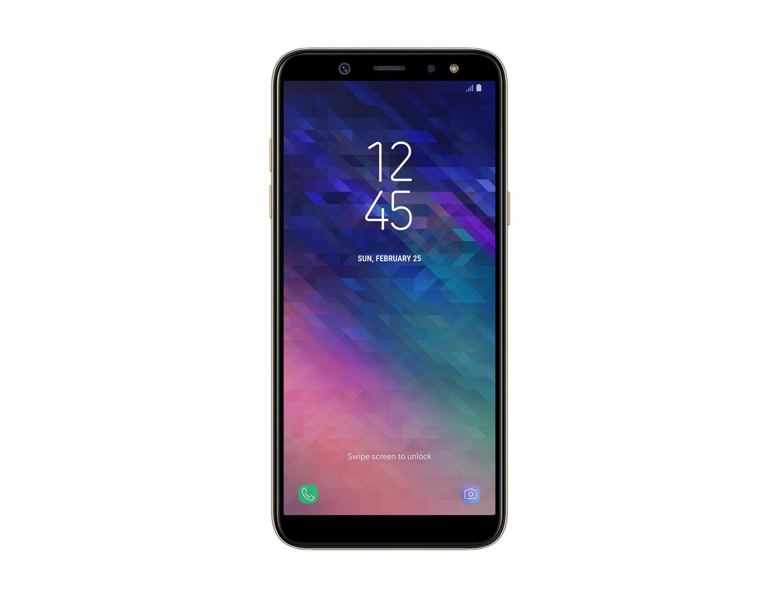 """Samsung Galaxy A6 SM-A600FN 5.6"""" Single SIM 4G 3GB 32GB 3000mAh Gold SM-A600FZDIBTU"""