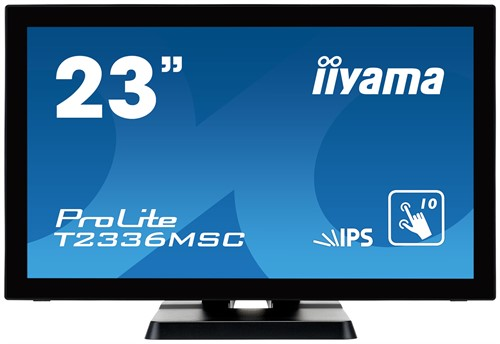 "iiyama ProLite T2336MSC-B2 23"" 1920 x 1080pixels Multi-touch Black touch screen monitor"