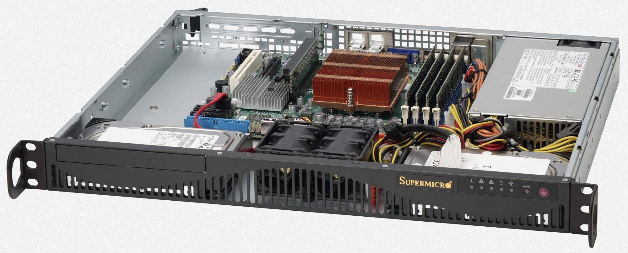Supermicro CSE-512F-350B 350W Black computer case