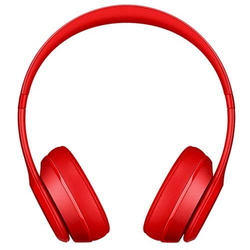 Apple Beats Solo 2 Wireless - Red, On-Ear Headphones, Official By Apple (MHNJ2ZM/A)