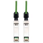 Tripp Lite SFP+ 10Gbase-CU Passive Twinax Copper Cable, SFP-H10GB-CU3M Compatible, Green, 3M
