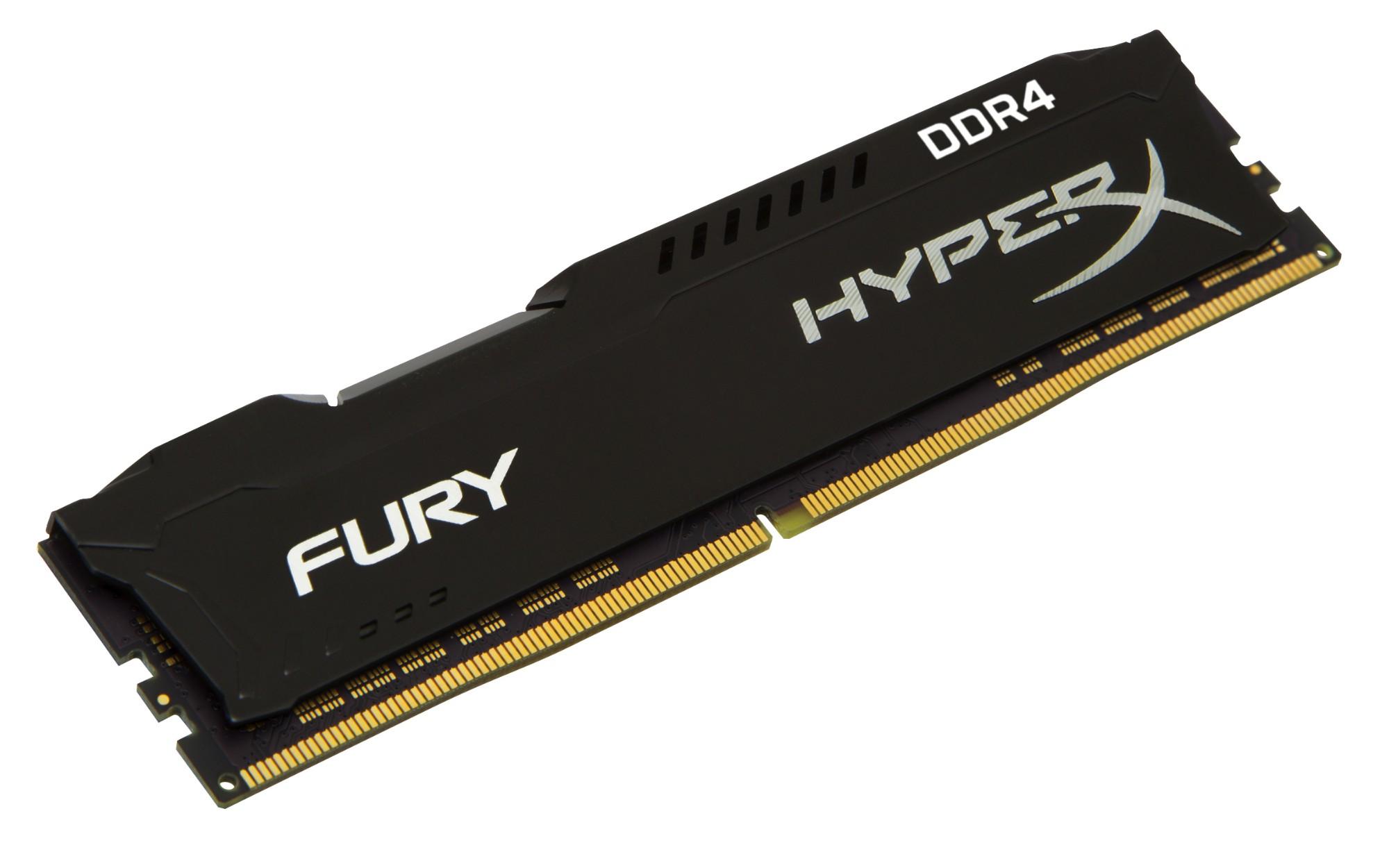 HyperX FURY Black 8GB DDR4 2400MHz memory module