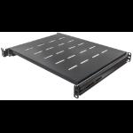 "Intellinet 19"" Sliding Shelf, 1U, For 600 to 800mm Depth Cabinets & Racks, shelf depth 350mm, Black"