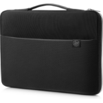 "HP 15 notebook case 39.6 cm (15.6"") Sleeve case Black, Silver"