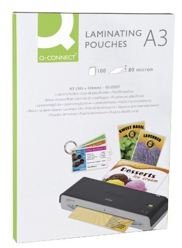 Q-CONNECT KF04122 laminator pouch