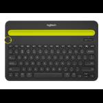 Logitech K480 mobile device keyboard AZERTY French Black,Green Bluetooth