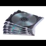 Fellowes 9833801 optical disc case Jewel case 1 discs Black, Transparent