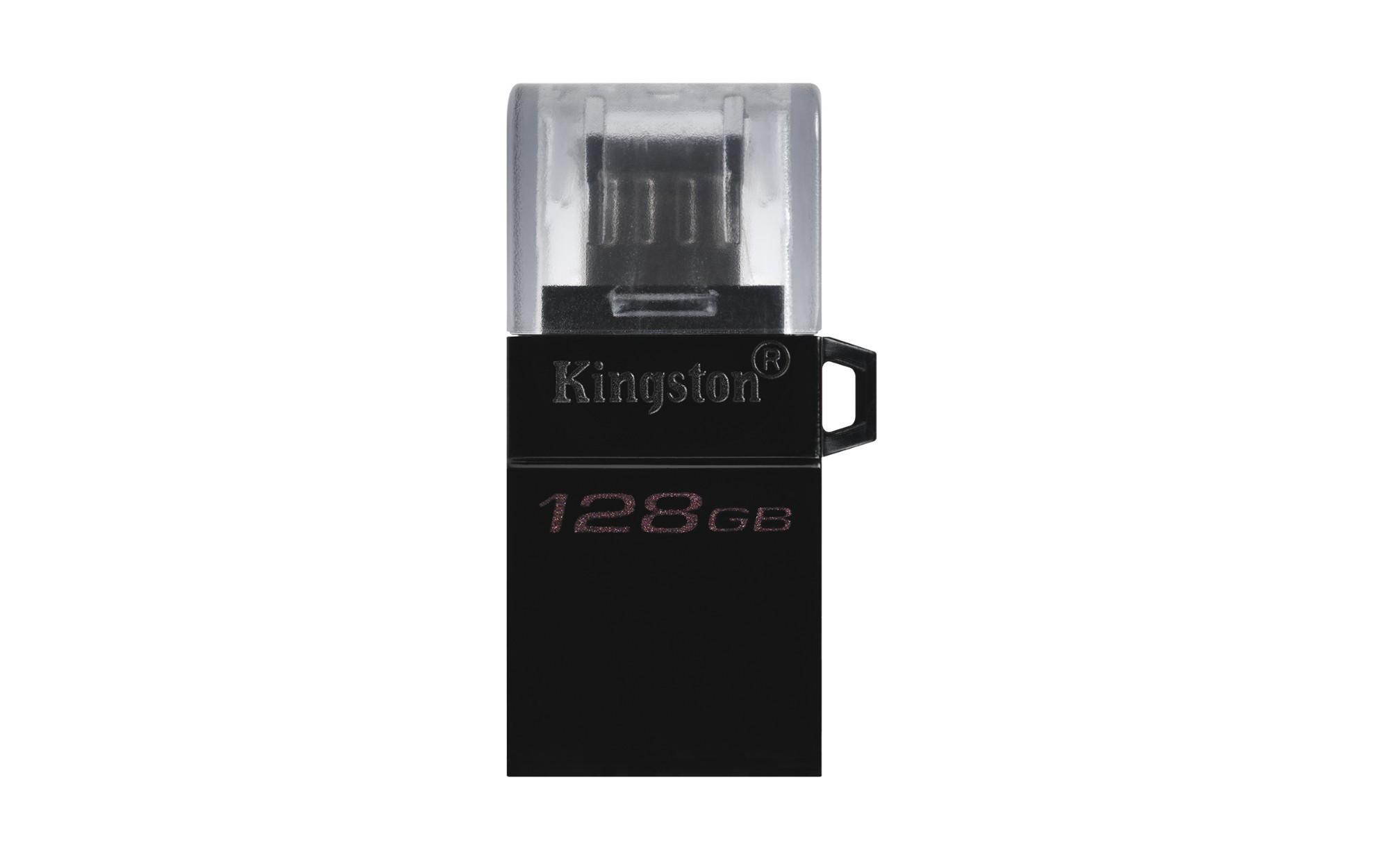 Kingston Technology DataTraveler microDuo3 G2 unidad flash USB 128 GB USB Type-A / Micro-USB 3.2 Gen 1 (3.1 Gen 1) Negro