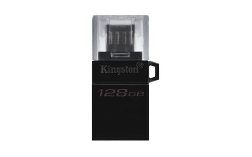Kingston Technology DataTraveler microDuo3 G2 USB flash drive 128 GB USB Type-A / Micro-USB 3.2 Gen 1 (3.1 Gen 1) Black
