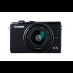 Canon EOS M100 + EF-M 15-45mm IS STM MILC 24,2 MP CMOS 6000 x 4000 Pixeles Negro