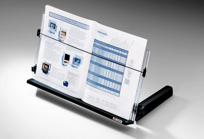 Document Holder In-line Fit In Front Of Monitor 18 Clear/blk