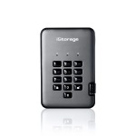 iStorage diskAshur PRO2 256-bit 512GB USB 3.1 secure encrypted solid-state drive IS-DAP2-256-SSD-512-C-G