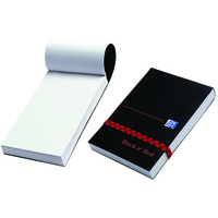 Black n' Red Polynote Book Casebound 90gsm Unruled 192pp 105x74mm Ref 100080540 [Pack 10]
