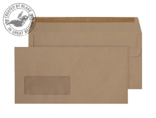 Blake Purely Everyday Manilla Window Self Seal Wallet DL 110x220mm 80gsm (Pack 1000)