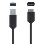 Belkin F3U166BT03-BLK USB cable 0.9 m USB A Micro-USB B Male Black