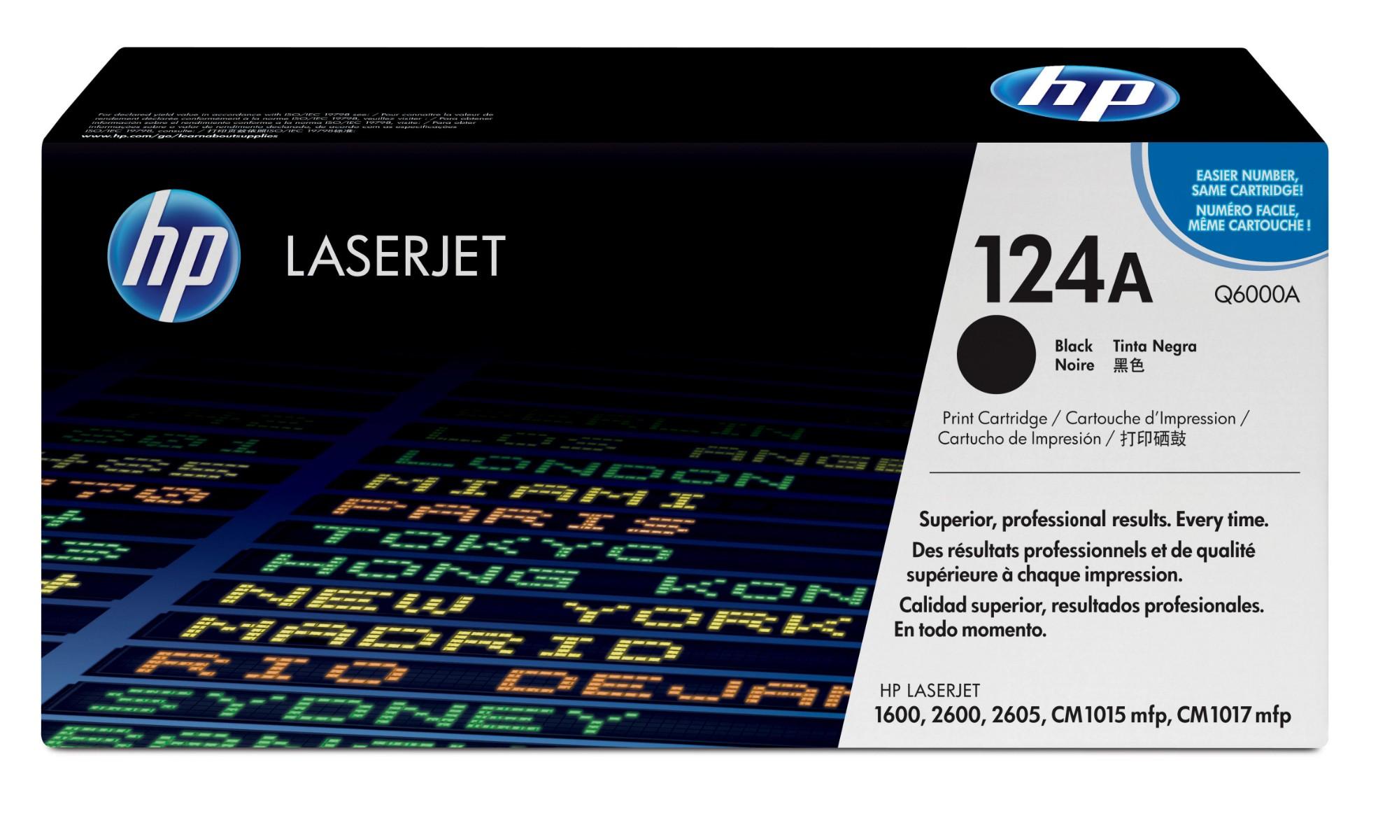 HP 124A Origineel Zwart 1 stuk(s)