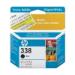 HP 338 Black Inkjet Print Cartridge with Vivera Ink