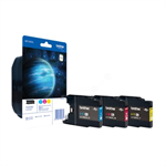 Brother LC-1280XLRBWBP Ink cartridge multi pack, 1.2K pages, Pack qty 3 LC1280XLRBWBP