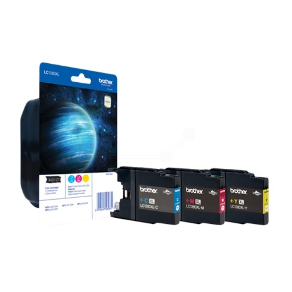 Brother LC-1280XLRBWBP Ink cartridge multi pack, 1.2K pages, Pack qty 3
