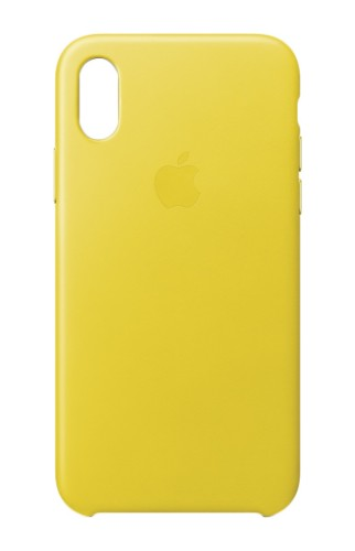 """Apple MRGJ2ZM/A mobile phone case 14.7 cm (5.8"""") Skin case Yellow Leather"""