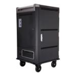 V7 Armario de carga para 30 dispositivos: proteja, almacene y cargue Chromebooks, portátiles y tabletas (toma de corriente Schuko)