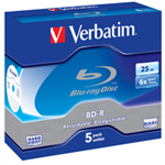 Verbatim BD-R SL 25GB 6 x 5 Pack Jewel Case BD-R 25GB 5pc(s)ZZZZZ], 43715