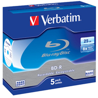 Verbatim BD-R SL 25GB 6 x 5 Pack Jewel Case BD-R 25GB 5pc(s)