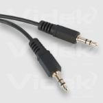 Videk 3.5mm Plug to 3.5mm Plug Stereo 0.5Mtr audio cable 0.5 m Black