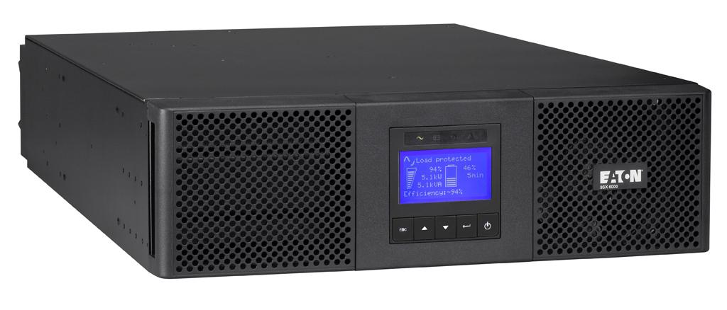 Eaton 9SX 6000i RT3U 6000VA 11AC outlet(s) Rackmount/Tower Black uninterruptible power supply (UPS)