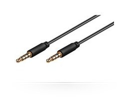 Microconnect IPOD012 audio cable 1 m Black