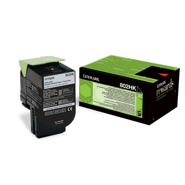 Lexmark 80C2HK0 (802HK) Toner black, 4K pages