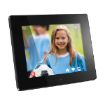 "Aluratek AWDMPF208F digital photo frame 8"" Touchscreen Wi-Fi Black"