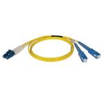 Tripp Lite Duplex Singlemode 8.3/125 Fiber Patch Cable (LC/SC), 3M