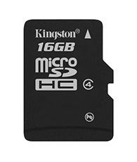 Micro SDHC Class 4 - 16GB Without Adapter