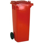 VFM REFUSE CONTAINER 140L 2 WHLD RED 33 33