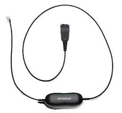 Jabra GN1200 0.8m Black telephony cable