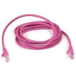 """Belkin Cat6 Snagless Patch Cable 3 Ft. Pink networking cable 35.4"""" (0.9 m)"""