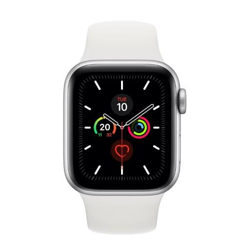 Apple Watch Series 5 smartwatch OLED Silver GPS (satellite)