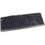 HP 672647-053 USB AZERTY French Black keyboard