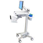 Ergotron StyleView EMR Cart with LCD Arm Flat panel Multimedia cart White