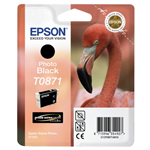 Epson C13T08714010 (T0871) Ink cartridge bright black, 200 pages, 11ml