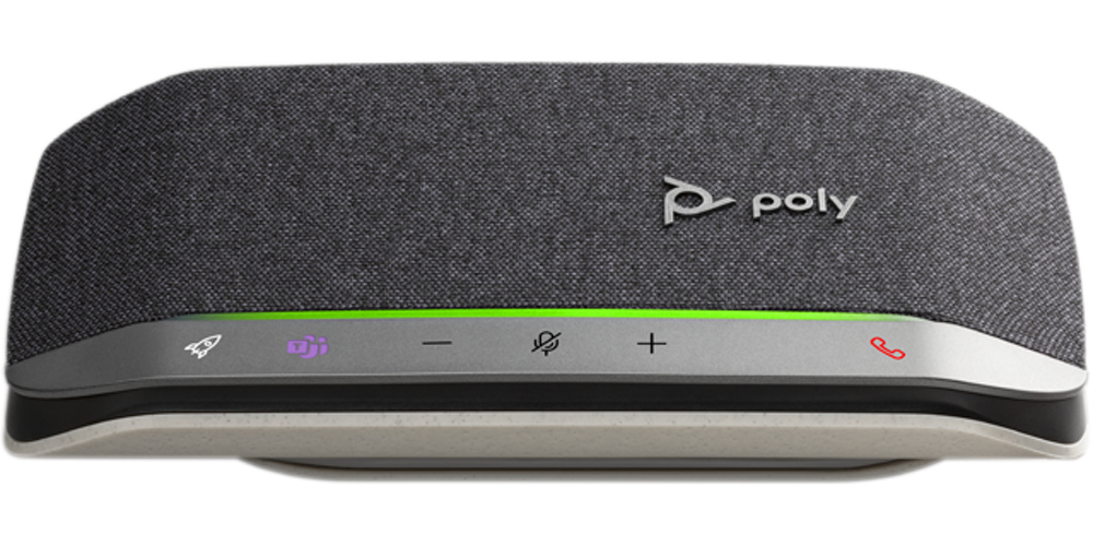 POLY 216866-01 altavoz Universal Negro, Plata Bluetooth