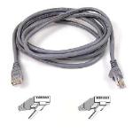 Belkin 3m Cat.6 UTP networking cable Grey Cat6 U/UTP (UTP)